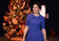 Дизайнер Алиса Толкачева на открытии выставки Шелковый лабиринт. Редкие платки Hermes из собрания Maison Carre Foundation
