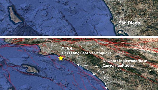 Сейсмологи прогнозируют мощное подводное землетрясение вЛос-Анджелесе