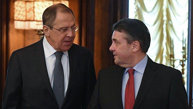 Министр иностранных дел РФ Сергей Лавров (слева) и министр иностранных дел Германии Зигмар Габриэль. Архивное фото
