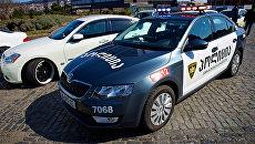 Автомобиль грузинской полиции в Тбилиси. Архивное фото