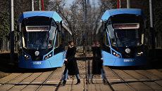 Новые российские трамваи Витязь-М. Архивное фото