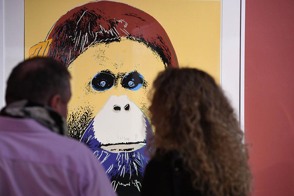Орангутан в обработке Уорхола напоминает многим людям мудрого старца