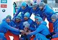 Мужская сборная Россия по биатлону выиграла малый Хрустальный глобус в зачете эстафет на Кубке мира в Холменколлене
