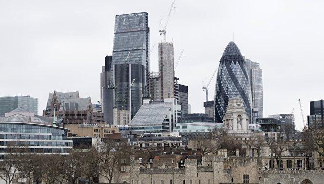 Лондон-Сити и небоскреб Мэри-Экс