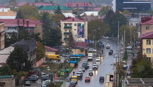 В городе Цхинвал в Южной Осетии. Архивное фото