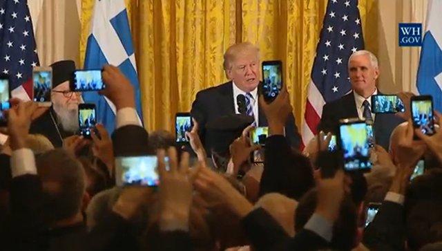 Выступление Трампа по телевидению