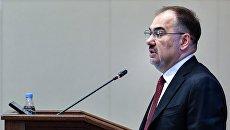 Председатель правления Пенсионного фонда РФ Антон Дроздов на заседании правления Пенсионного фонда РФ. 28 марта 2017