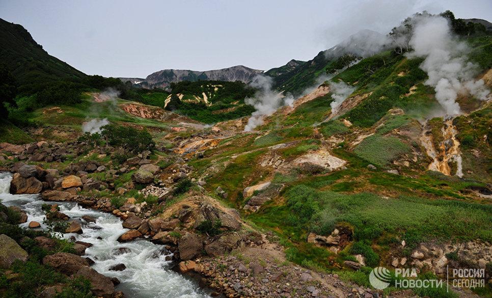 Долина Гейзеров в Кроноцком государственном природном биосферном заповеднике на Камчатк