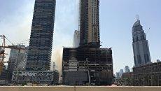 Последствия пожара в Дубае. Архивное фото