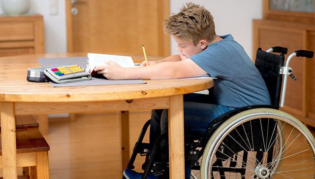 Школьник с ограниченными возможностями