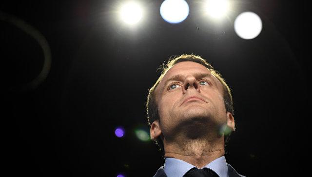 Кандидат в президенты Франции Эммануэль Макрон . Архивное фото