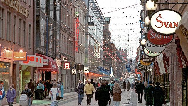 На одной из улиц столицы Швеции Стокгольма. Архивное фото