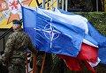 Церемония приветствия многонационального батальона НАТО под руководством США в польском Ожише