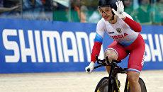 Российская велогонщица Дарья Шмелева завоевала золото в гите на ЧМ. 15 апреля