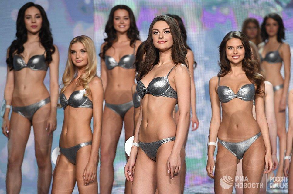 Выступление финалисток конкурса Мисс Россия 2017 в концертном зале Барвиха