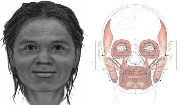 Ученые воссоздали вид женщины, жившей 13 тыс. лет назад