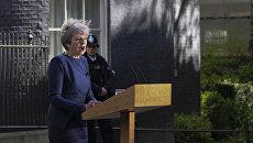 Премьер-министр Великобритании Тереза Мэй во время объявления даты всеобщих выборов, назначенных на 8 июня. 18 апреля 2017 года