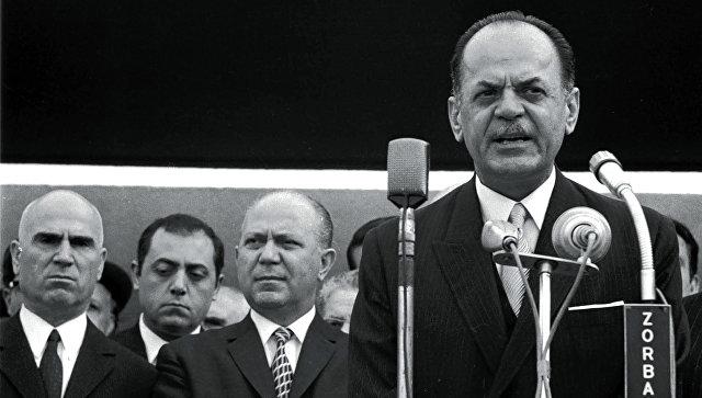 Лидер режима черных полковников в Греции Георгиос Пападопулос. Архивное фото