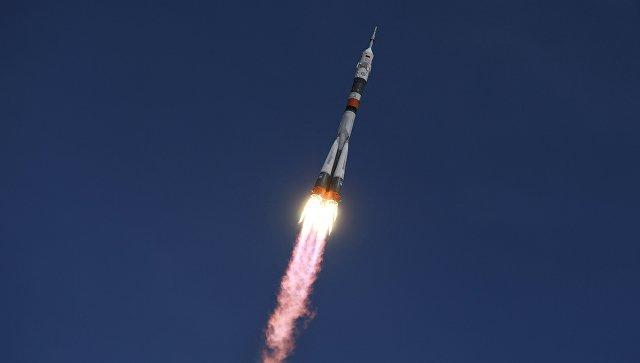 Пуск ракеты-носителя Союз-ФГ с ТПК Союз- МС-04. Архивное фото