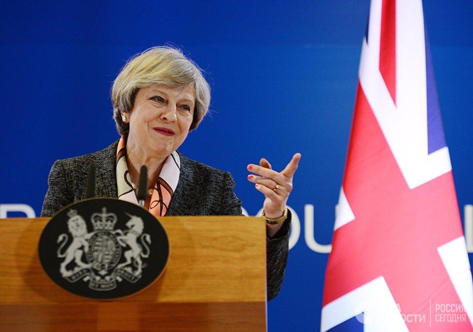 Премьер-министр Великобритании Тереза Мэй на встрече глав государств и правительств стран Евросоюза в Брюсселе