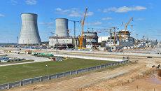 Строительство Белорусской АЭС возле города Островец в Гродненской области