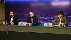 Заседание круглого стола по российско-грузинским отношениям в Международном мультимедийном пресс-центре МИА Россия сегодня