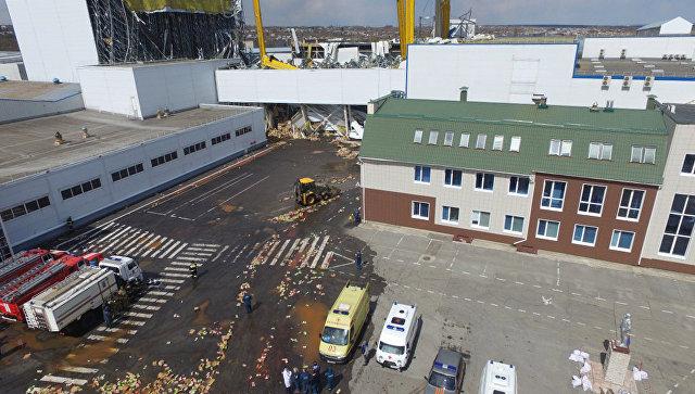 Обрушение кровли на заводе компании PepsiCo в Липецкой области. 25 апреля 2017