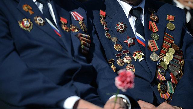 Ветераны перед началом парада. Архивное фото
