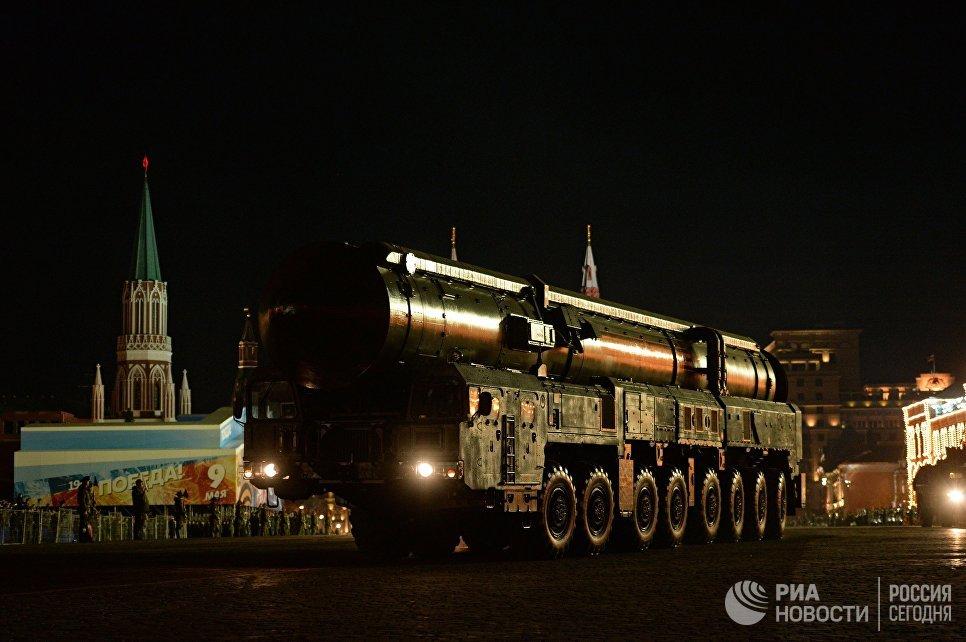 ПГРК Ярс на репетиции парада Победы на Красной площади в Москве