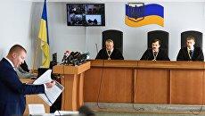 Адвокат экс-президента Украины Виктора Януковича Виталий Сердюк на заседании Оболонского районного суда Киева, где рассматривается дело Виктора Януковича. 4 мая 2017