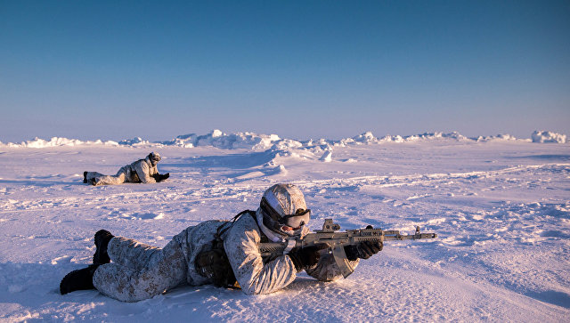 Военные учения в Арктике
