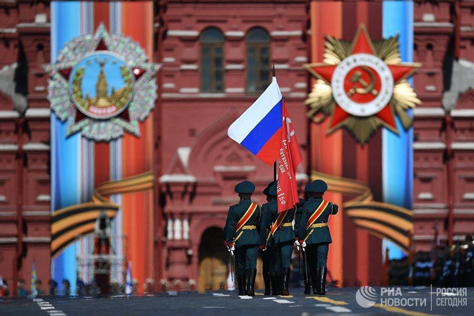НаКрасной площади в столицеРФ  прошла генеральная репетиция парада Победы