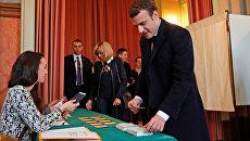 Второй тур президентских выборов во Франции. Эммануэль Макрон. 7 мая 2017