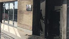 На месте поджога офиса Оппозиционного Блока в Днепре. 11 мая 2017