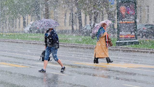 В столице России прошел аномальный для мая снегопад