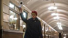 Парад поездов на Кольцевой линии Московского метрополитена