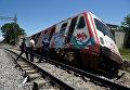 Поезд сошел с рельсов недалеко от станции Адендрос. Греция, 14 мая 2017