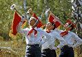 Пионеры в пионерском лагере нефтяников в Лениногорске, Татарская АССР