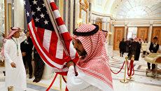Визит Дональда Трампа в Саудовскую Аравия для участия в саммите арабских и мусульманских лидеров. 21 мая 2017