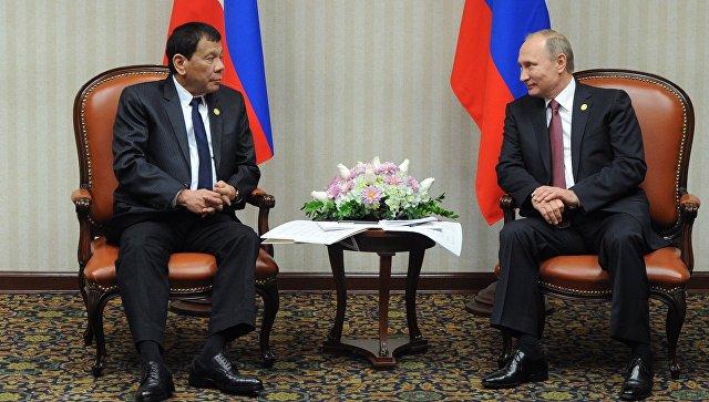 Путин проведет встречу с Дутерте по возвращении из Краснодара