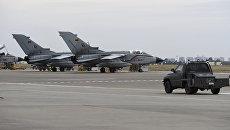 Немецкие истребители Торнадо на авиабазе Инджирлик в Турции. Архивное фото