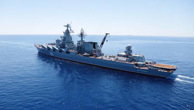 В Средиземном море российские корабли отработали глубинное бомбометание