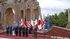 Cаммит G7 официально открылся в сицилийском городе Таормине. Италия, 26 мая 2017