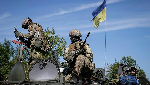 Украинские силовики под Краматорском. 4 сентября 2014
