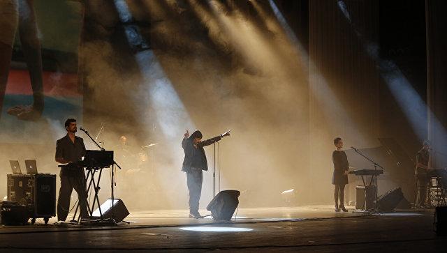 Концерт словенской группы Laibach в Пхеньяне, КНДР. Архивное фото