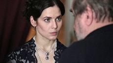 Актриса Юлия Снигирь на съемках сериала Хождение по мукам