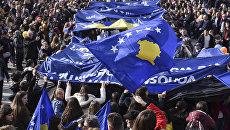 Празднование 9-й годовщины независимости Республики Косово. Архивное фото