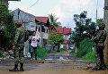 Филиппинские солдаты в городе Марави