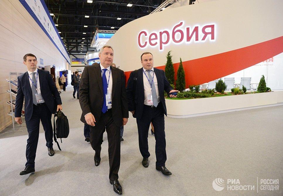 Дмитрий Рогозин на Санкт-Петербургском международном экономическом форуме 2017