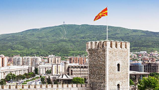 Вид в  Скопье, Македония. Архивное фото